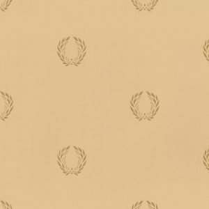 light reflective in-register laurel leaf in beige and gold wallcovering
